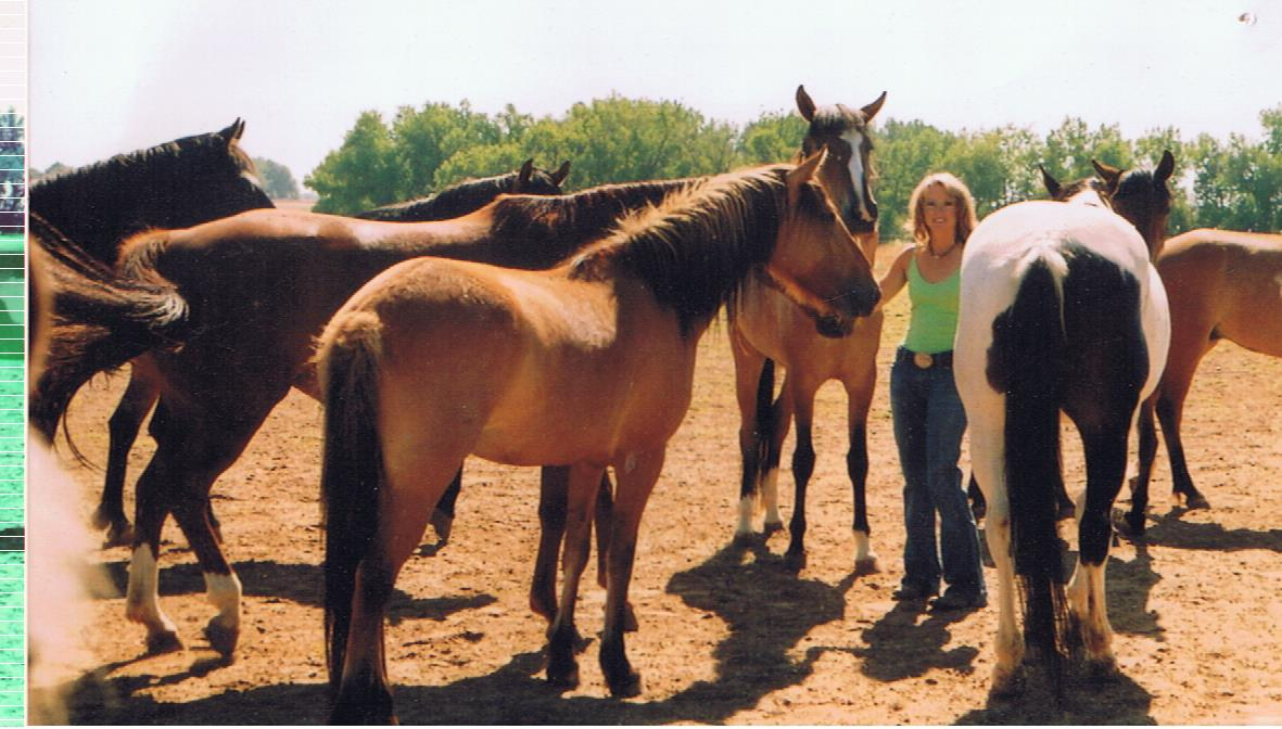 Lenore with horses